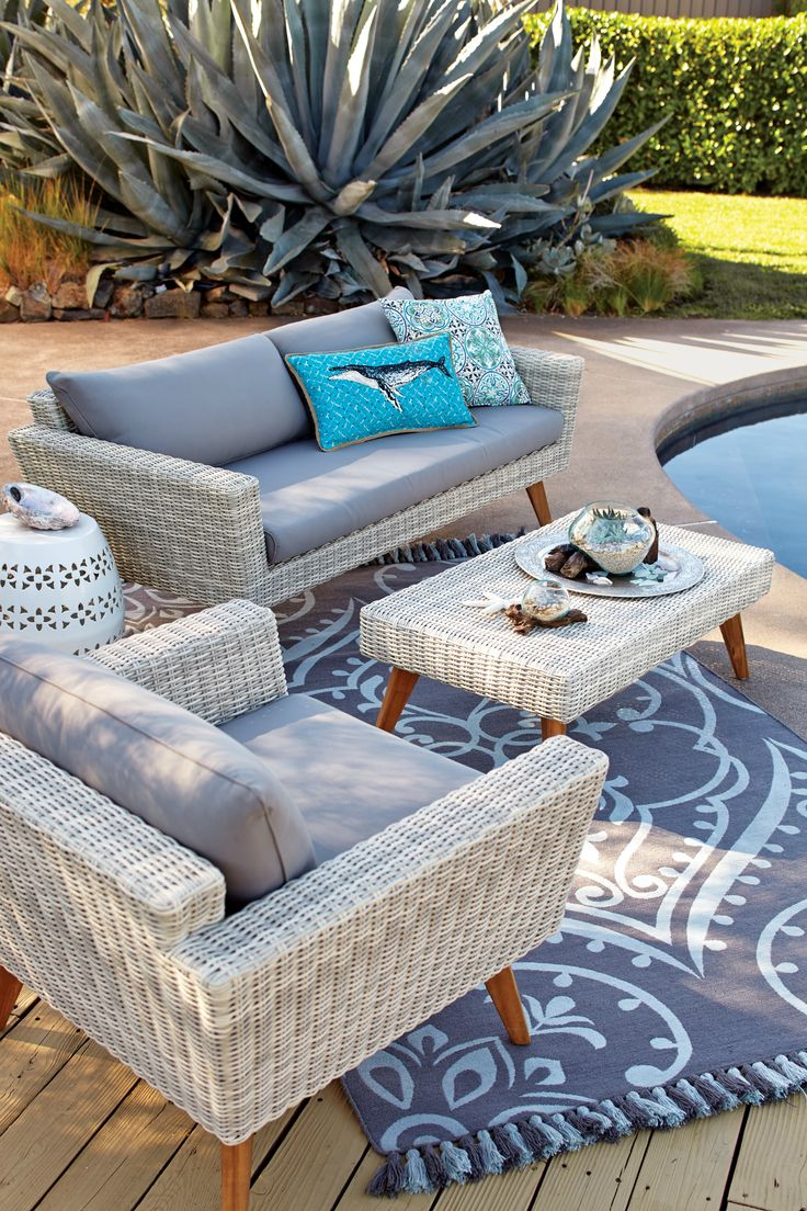 Bring the comfort of the indoors outside with our quality outdoor seating, with stylish lounge and outdoor chairs at unbeatable World Market values. www.worldmarket.com #WorldMarket Outdoor Decor
