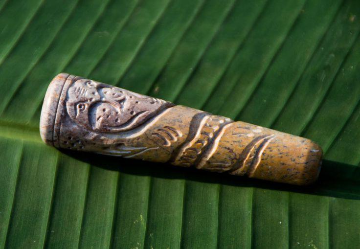 Handcarved Cobra Chillum, Small Stone Chillum, Ritual Chillum Stone pipe, Baba