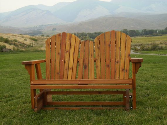 Glider Loveseat by KMountainWoodcraft on Etsy