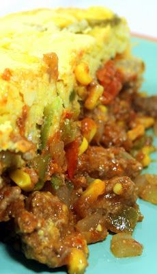 Inspired By eRecipeCards: Taco Corn Bread Casserole - Church PotLuck Main Dish