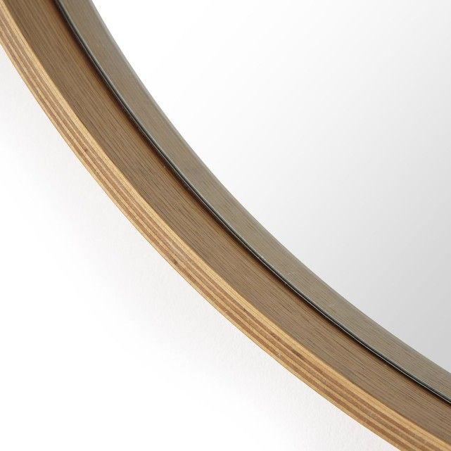 miroir rond miroir chene