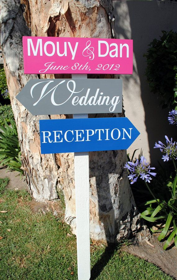 Wedding Directional arrow signs