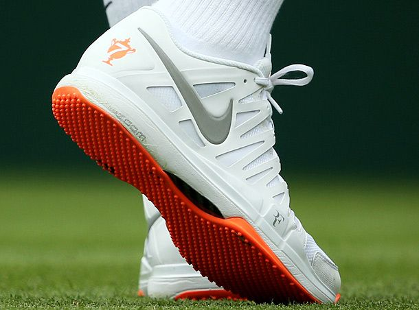 Roger Federer was asked to change these shoes because they were too  colorful for the all