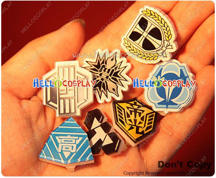 Kuroko No Basket Cosplay Accessories Seven School Badges -: Hello Cosplay : Cosplay Costumes :Cosplay Wigs