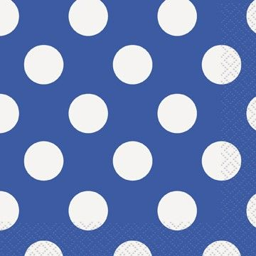 Blue Polka Dot Beverage Napkins Polka Dot Party Supplies PlatesAndNapkins.com