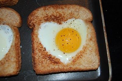 eggs in a nest - Perfect Valentines Day Breakfast.