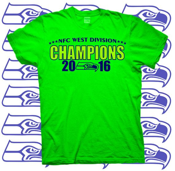 SEATTLE SEAHAWKS NFC West Division Champions 2016 by OCDtees