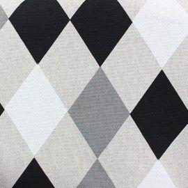 Tissu toile Losange Beltza x 10 cm