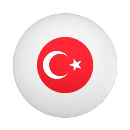 Special ping pong ball with Flag of Turkey - elegant gifts gift ideas custom presents