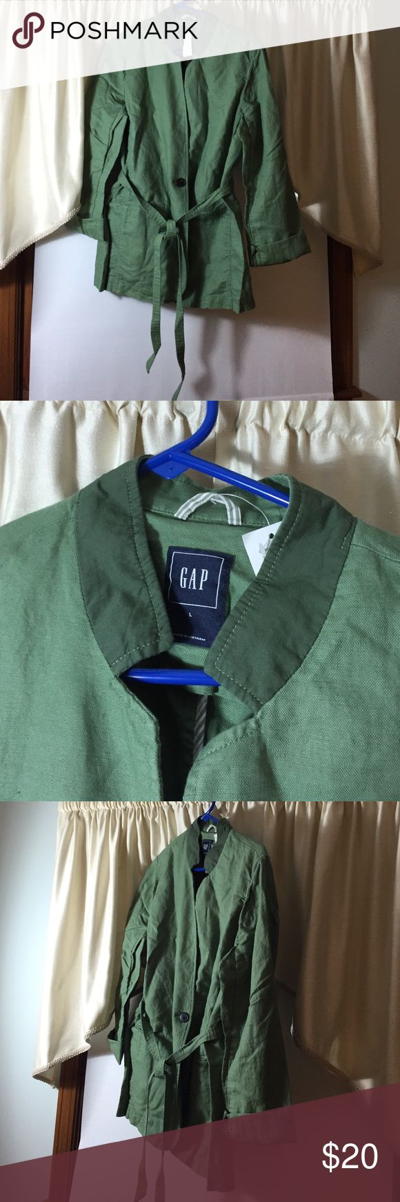 MArked Down!!! ... NWT--beautiful green GAP jacket Brand new --gorgeous shade of green--jacket GAP Jackets & Coats Jean Jackets
