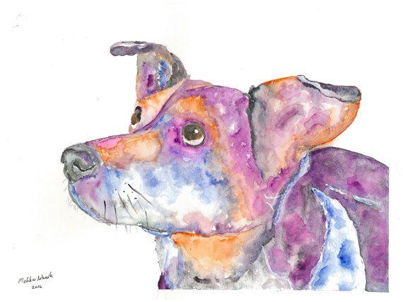 Sadie  original watercolour painting 32x24cm. Custom pet
