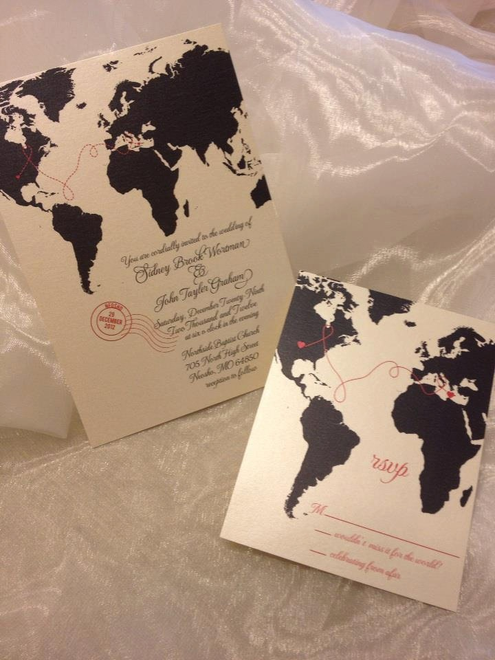 wedding invitations map%0A Love Knows No Distance Travel  Inspired Wedding Invitation Suite   DEPOSIT           via