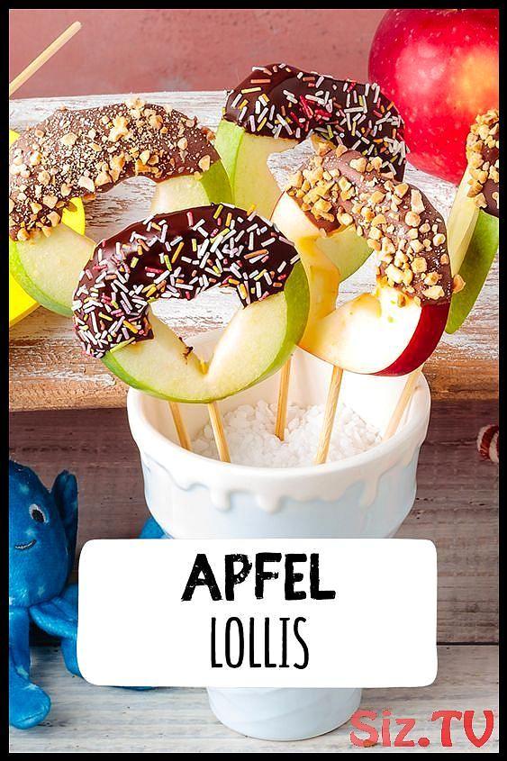 Apple Lollipops Apple Lollipops Apple Lollis machen Kindergeburtstag Schokolade …