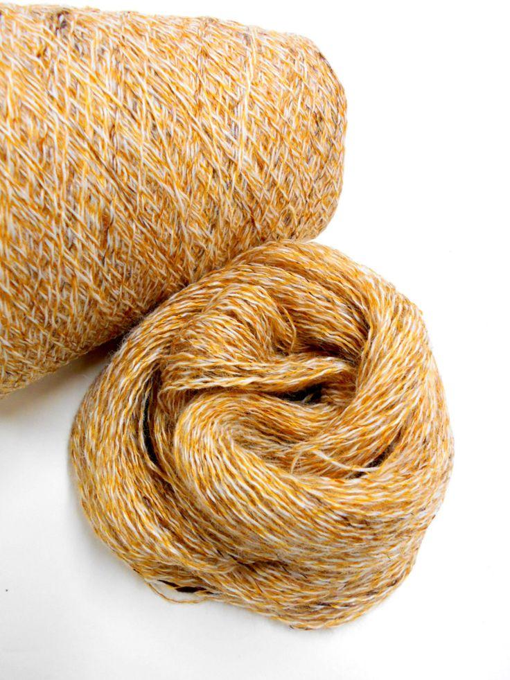 Vintage Knitting Yarn, 2 Ply Yarn, 3 skeins Colombian Gold Lace Weight Yarn, Rhyne Mills, Mystery Yarn, Y 134