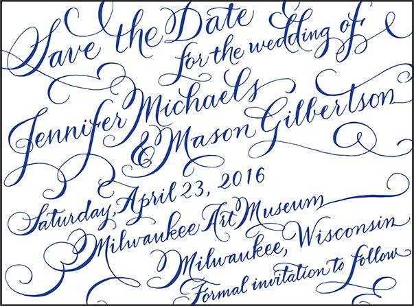 Letterpress Wedding Save the dates | New Calligraphy Design | Bella Figura Letterpress
