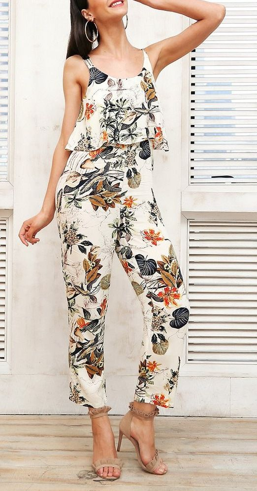 76e7d4abf680 Vee White Boho Floral Print Jumpsuit - Check out this season s smokin  hot floral  jumpsuits at Shopvee!