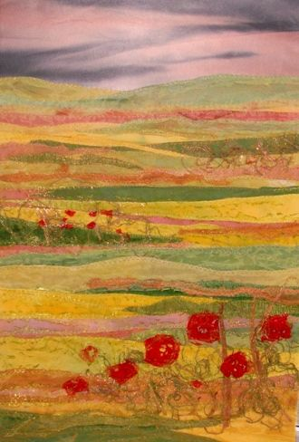 Evening Poppies Judith Reece Textile design
