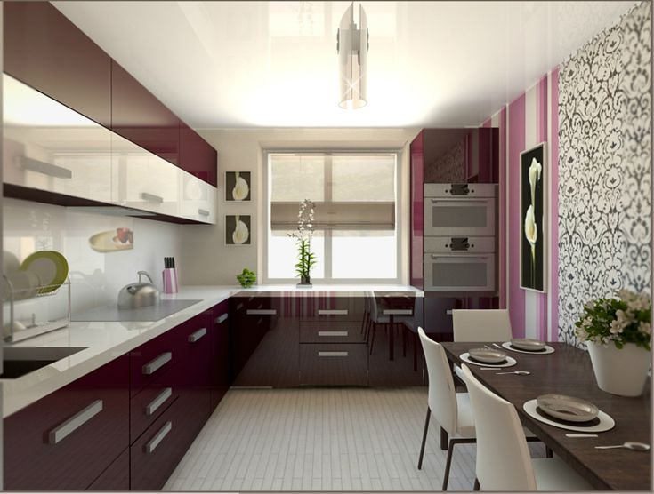 Картинки по запросу узкая кухня 9м расположение у окна