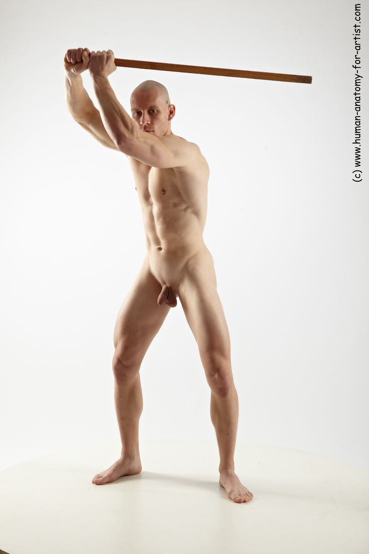 naked man action poses