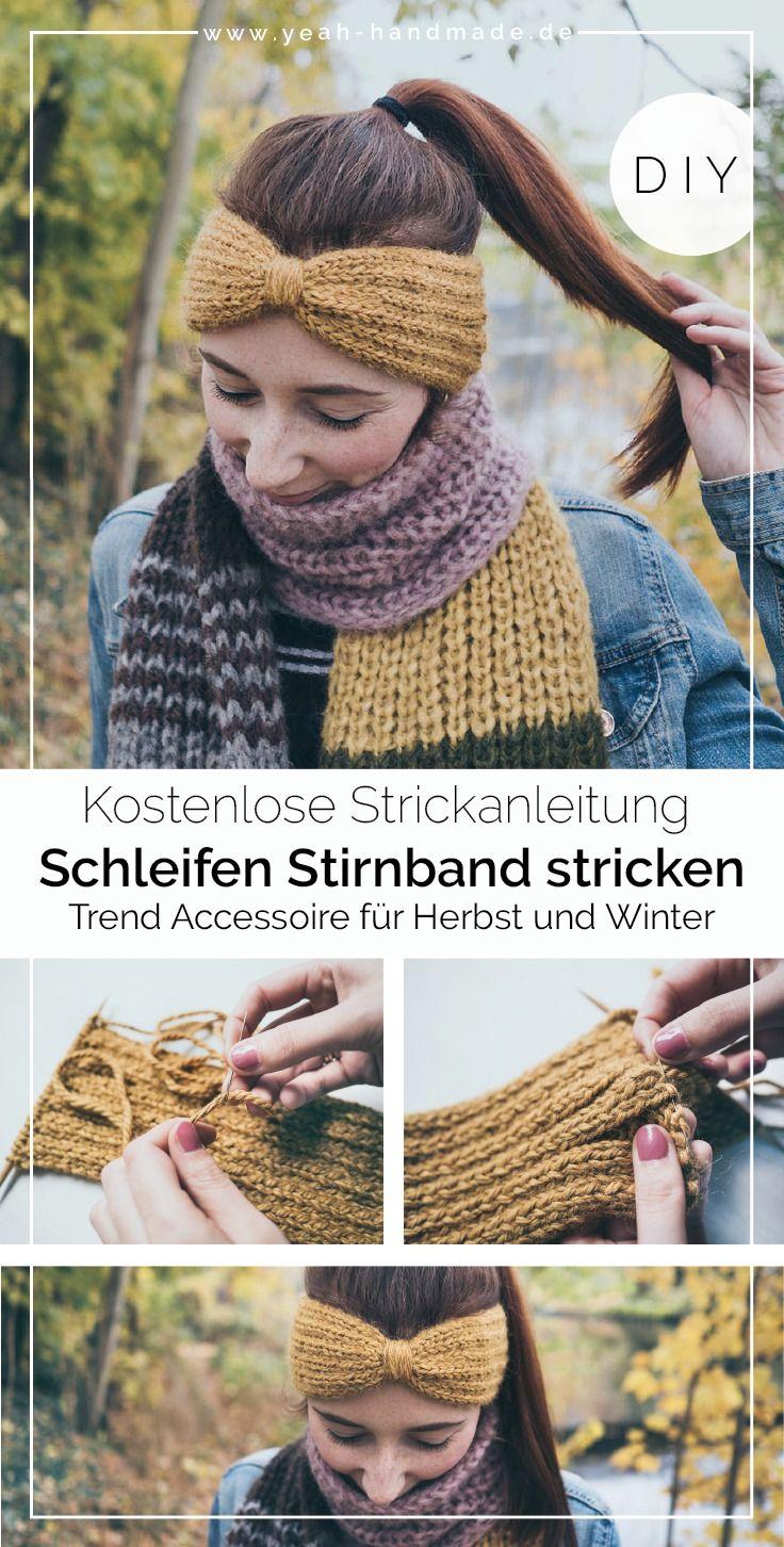 DIY Stirnband stricken: Schleife