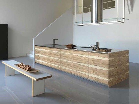 Bench-and-wooden-barplot-in-kitchen