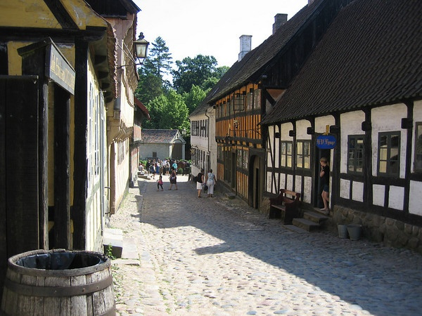 """Den Gamle By"", Århus, Old ""Danish town"" covering the time from the Middle Ages to the 1900's."