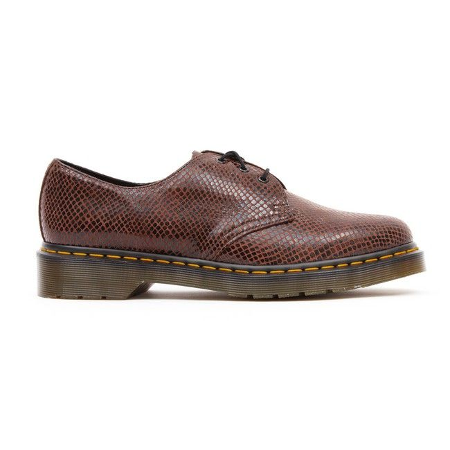 Dr Martens - 1461 3 Eye Shoe - Brown Wave at Cloggs
