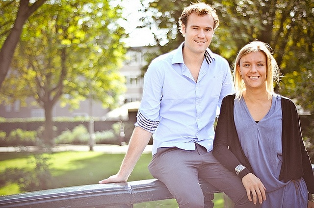 A nice adult sibling portrait. :)