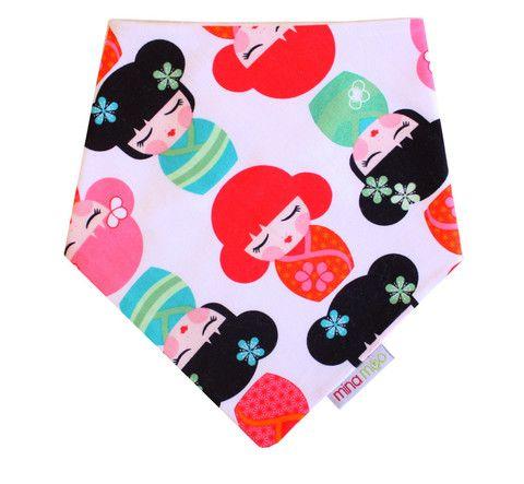 Tokyo dolls dribble bandana bib – Mina Moo and Baby