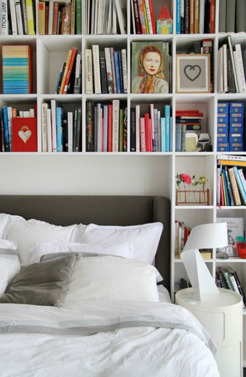 Whoever said you cant have a bookshelf or shelves in your bedroom is crazy...your bedroom is the perfect place to cozy up and read a good book <3