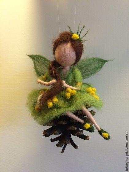 """Вальдорфская игрушка ручной работы. Ярмарка Мастеров - ручная работа. Купить Волшебная фея """"Мимоза"""". Handmade. Зеленый, фея"""