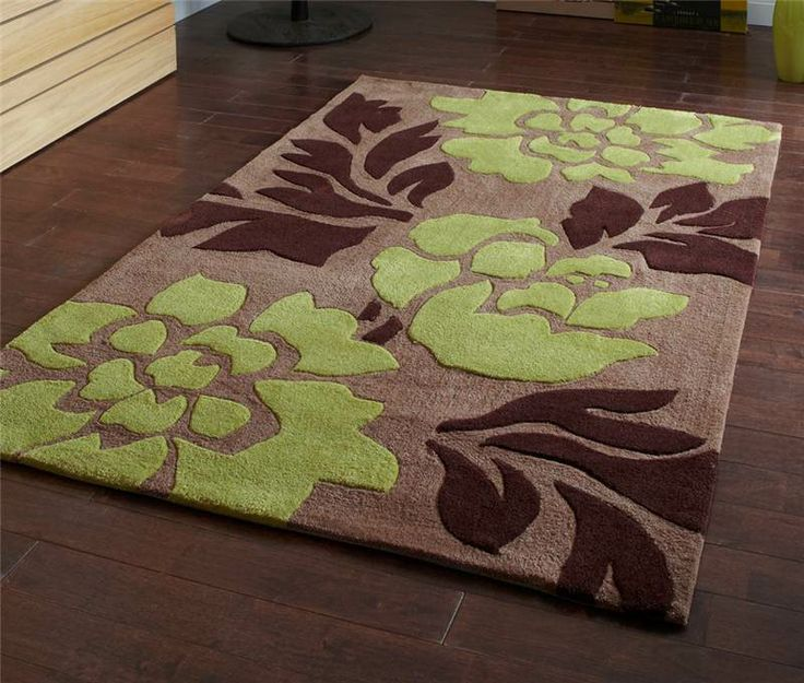 Noble House 1033l Brown Green Rug Modern Rugs At