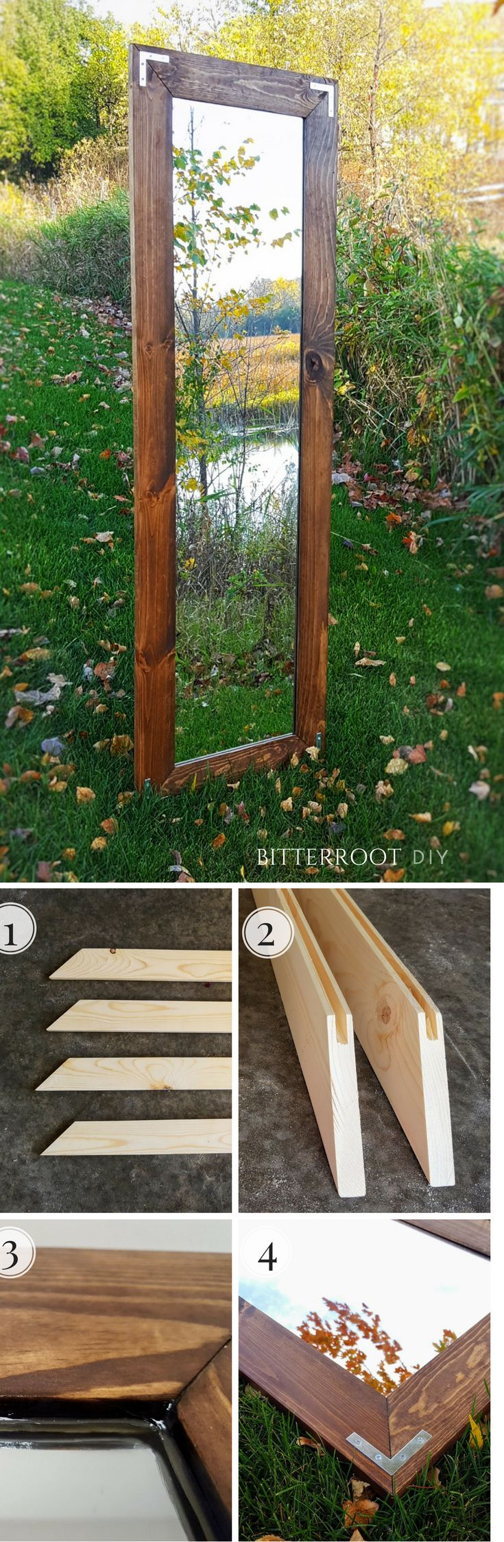 DIY Rustic Industrial Mirror. Make your own farmhouse mirror with this easy tutorial.