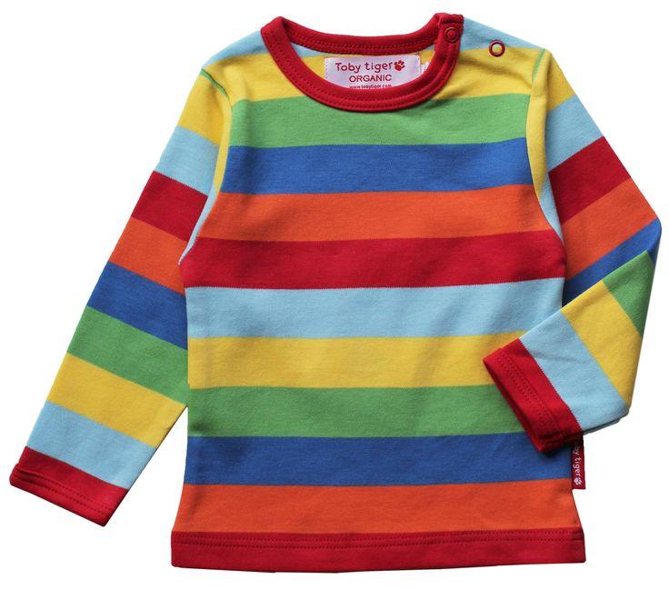 Organic Cotton Multistripe Long Sleeve T Shirt Children
