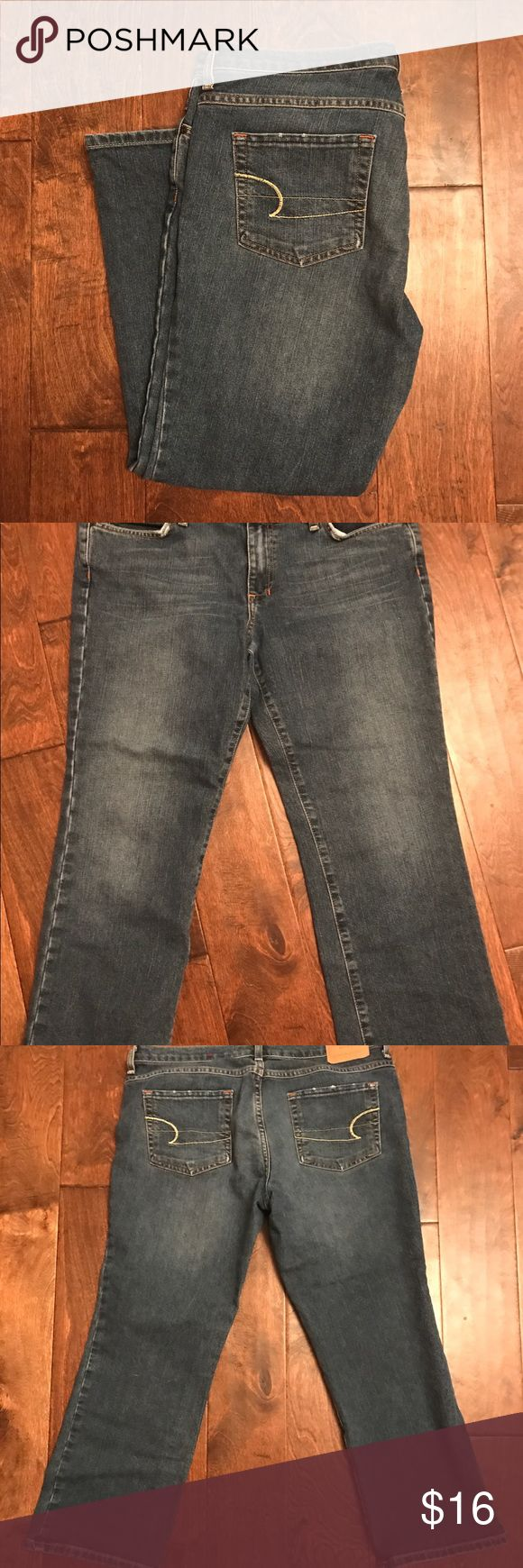 American Eagle Capri jeans American Eagle Capri jeans, size 12.  In good shape and has some stretch to them with the 2% spandex. American Eagle Outfitters Jeans Ankle & Cropped