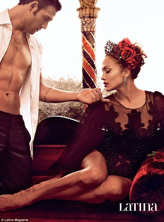 Hot couple: Jennifer Lopez ramped up the sexual chemistry with her The Boy Next Door co-star Ryan Guzman in a series of new sultry photos for Latina magazine