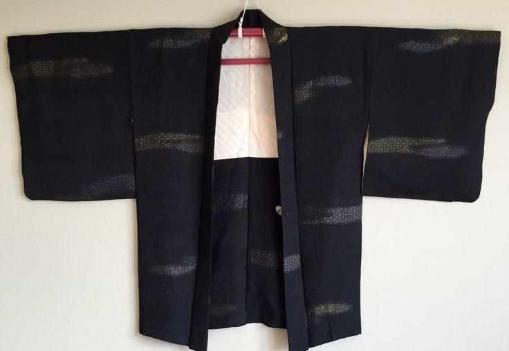 A personal favourite from my Etsy shop https://www.etsy.com/au/listing/464387744/1950s-black-haori-kimono-jacket-boho