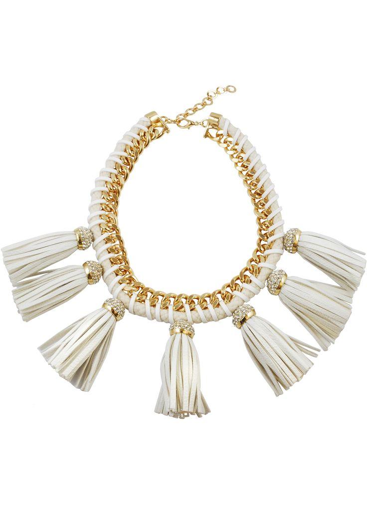 Lucinda Gold Fringe Necklace