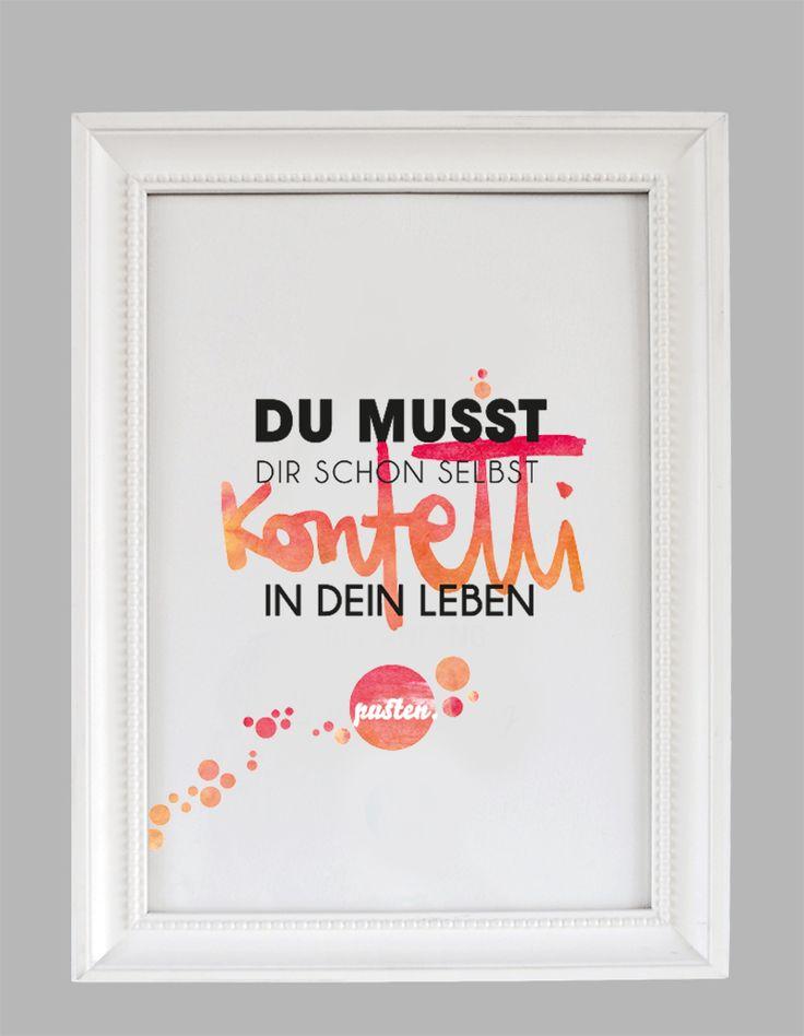 Kunstdruck Konfetti in dein Leben pusten - Formart Zeit für Schönes!