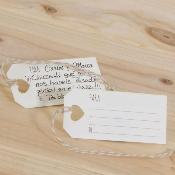 Ideales tarjetas para escribir mensajes a tus invitados