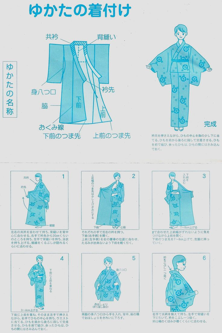 Instrucciones-Yukata.jpg (1872×2814) I should wear mine that I got many years ago in Japan
