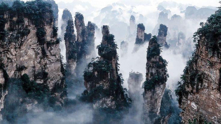 """Фотографии ниже, могут выглядеть, как сцены из фильма Джеймса Камерона блокбастера """"Аватар"""", но эти невероятные скальные образования на самом деле располож"""