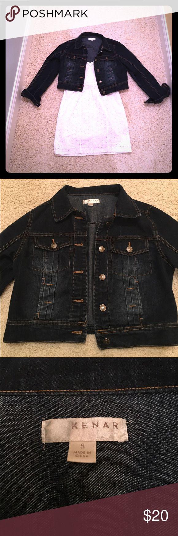 Small waist length dark denim jacket Adorable waist length dark denim jacket perfect to pair with summer sundresses  Jackets & Coats Jean Jackets