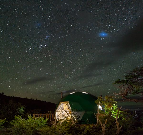 EcoCamp Suite Dome at night Phto by James Florio #mytrip #patagonia #photooftheday #domes #night