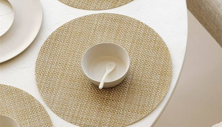 #Dinning in #style The #chilewich #tabletop collection at #aslanoglou #souplat #artdelatable #tablemats