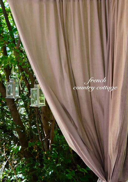 French Country Cottage Outdoor Drop Cloth Panels Lowescreator I Am So Going To Do And Paint