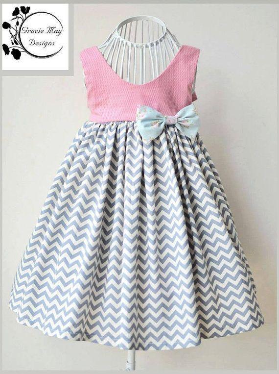 Gracelyn vestido niñas PDF patrón tallas 2 3 4 5 6 por LuxePatternCo
