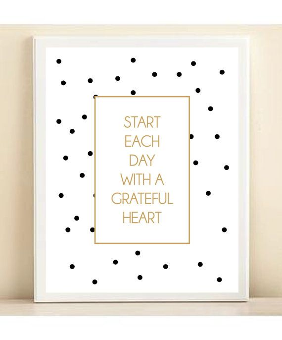 Black White & Gold Polka Dot 'Start Each Day with a by ACDShop
