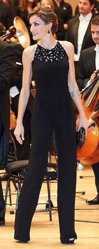 Queen Letizia. Concert. Oviedo. Night jumpsuit  I Love Love Love her style!