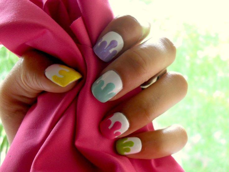 Druip nagels :: Eigen nail art